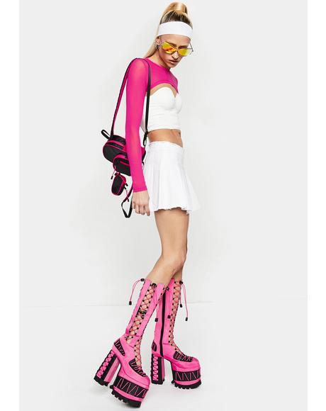 Candy Rude Awakening Platform Boots
