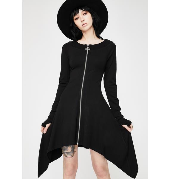 Killstar Uriel Zip Dress