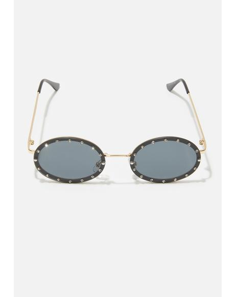 Mystic Hippie Heartbreak Oval Sunglasses