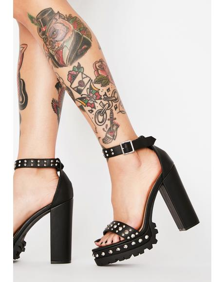Blackout Hey Stud Platform Heels