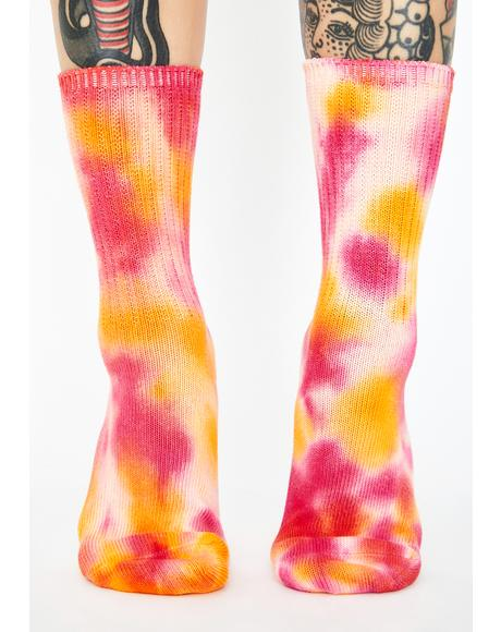 Fruity Cutie Tie Dye Socks