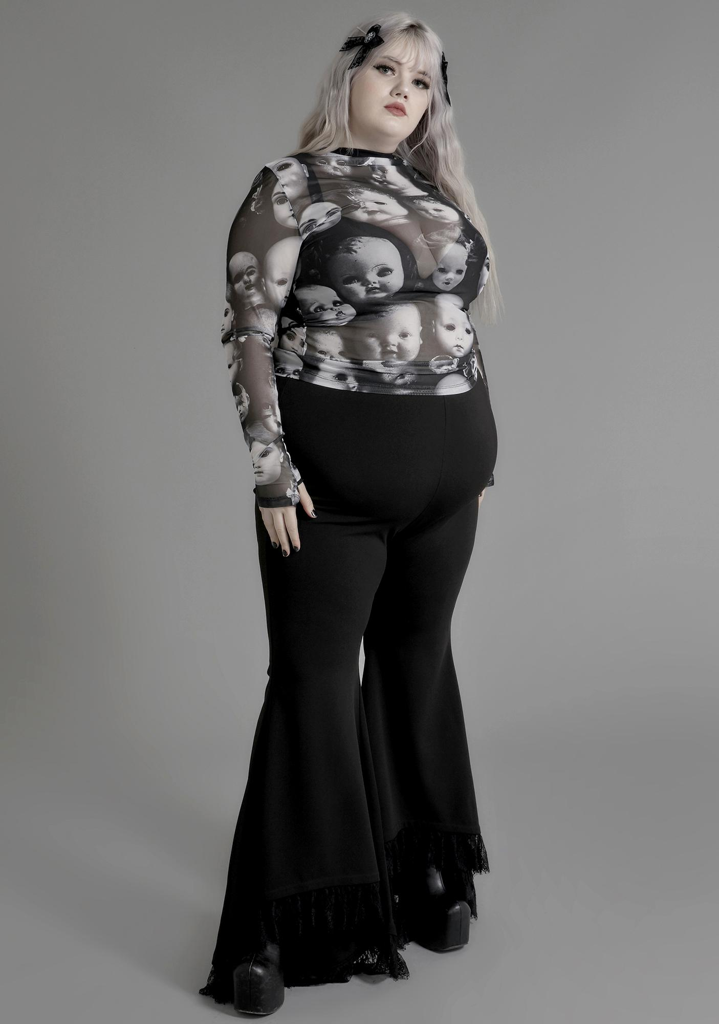 Widow Lost Wayward Souls Mesh Top