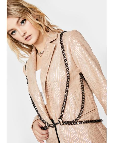 Moneylicious Chain Harness Blazer