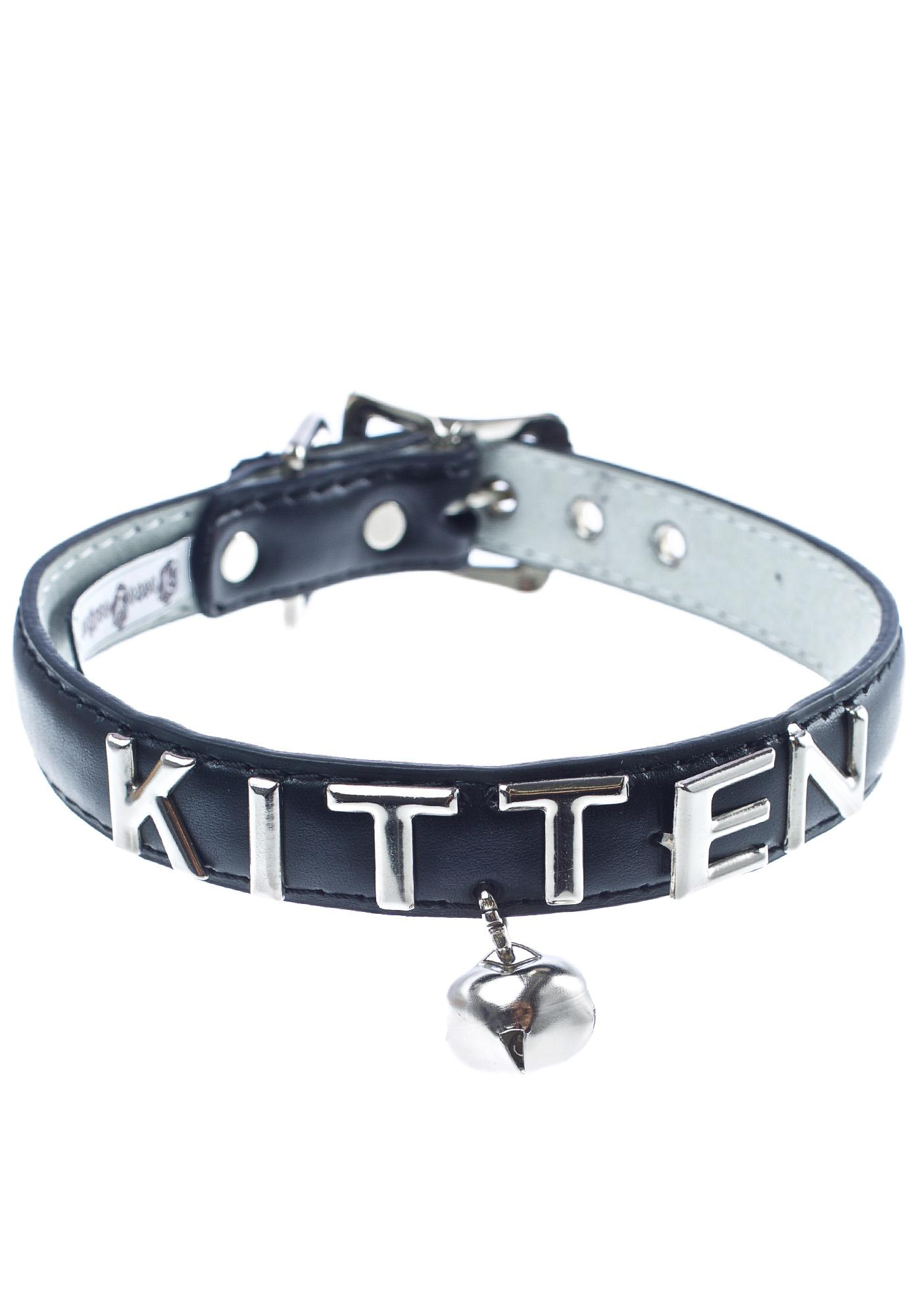 NecroLeather Vices Kitten Bell Collar