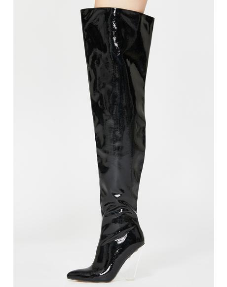 Chelsea Thigh High Boots