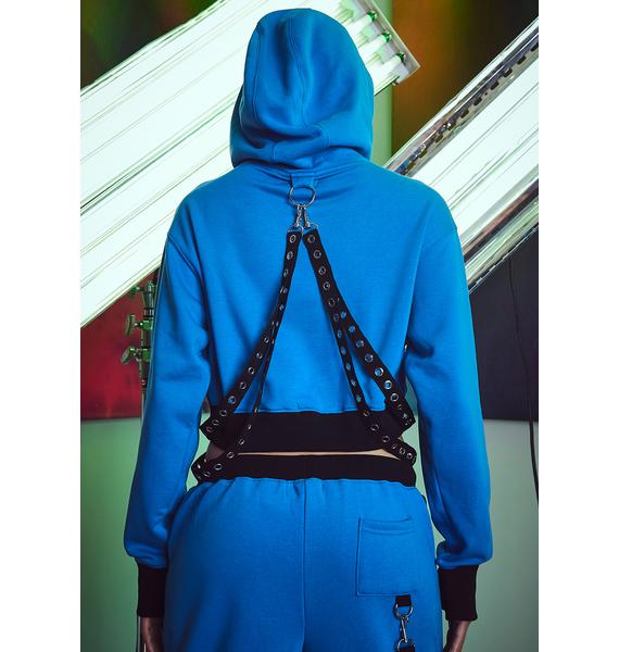 Current Mood Causing Shockwaves Bondage Hoodie
