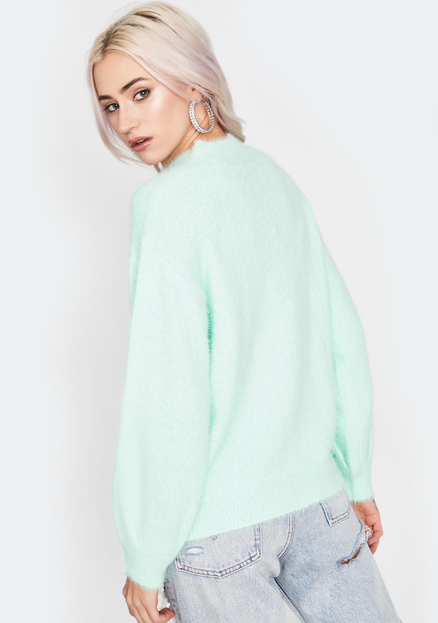 Mint Keep It Simple Knit Sweater