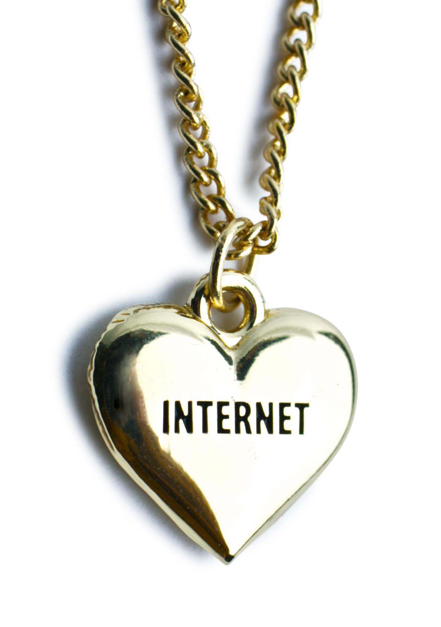 Lazy Oaf Internet Necklace