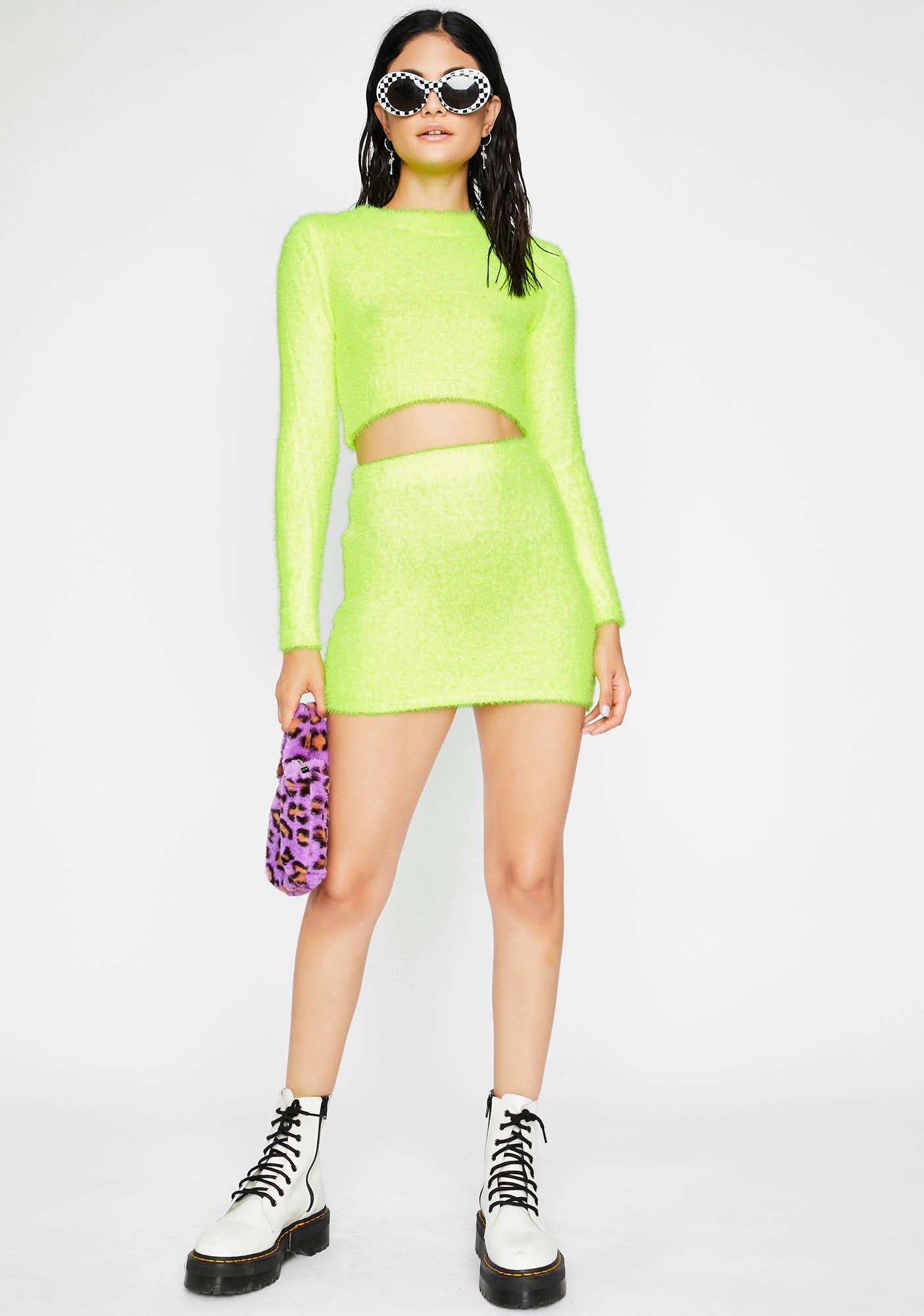 Electric Fuzzy Freaq Skirt Set