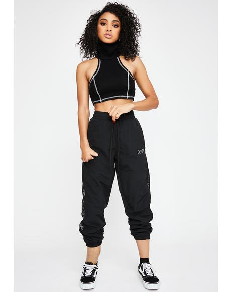Black Marathon Track Pants
