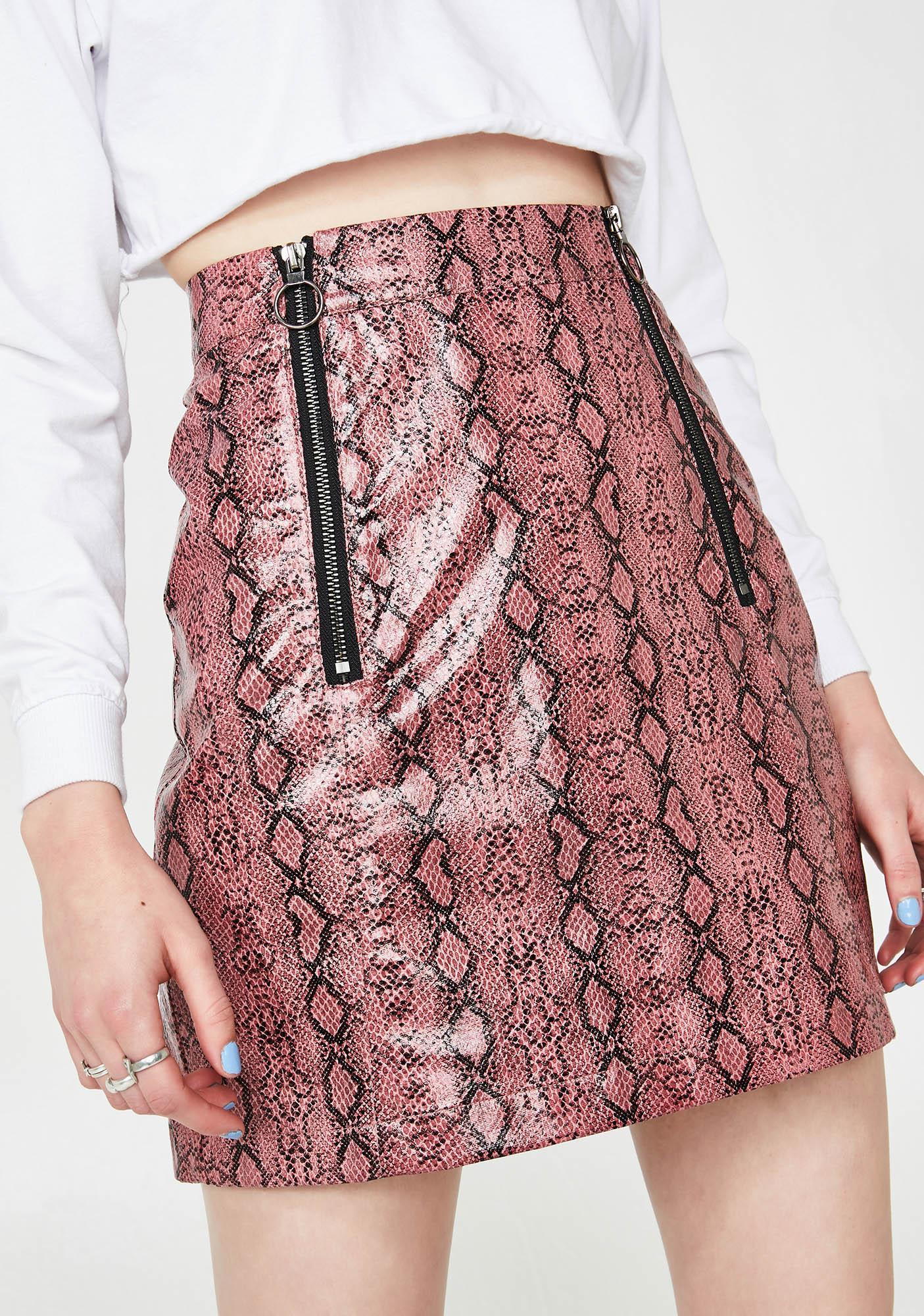 Lazy Oaf Zippy Snake Skirt