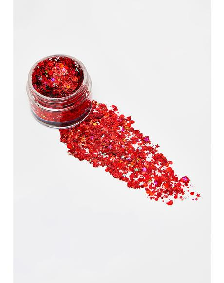 Red Fury Unicorn Glitter Gel