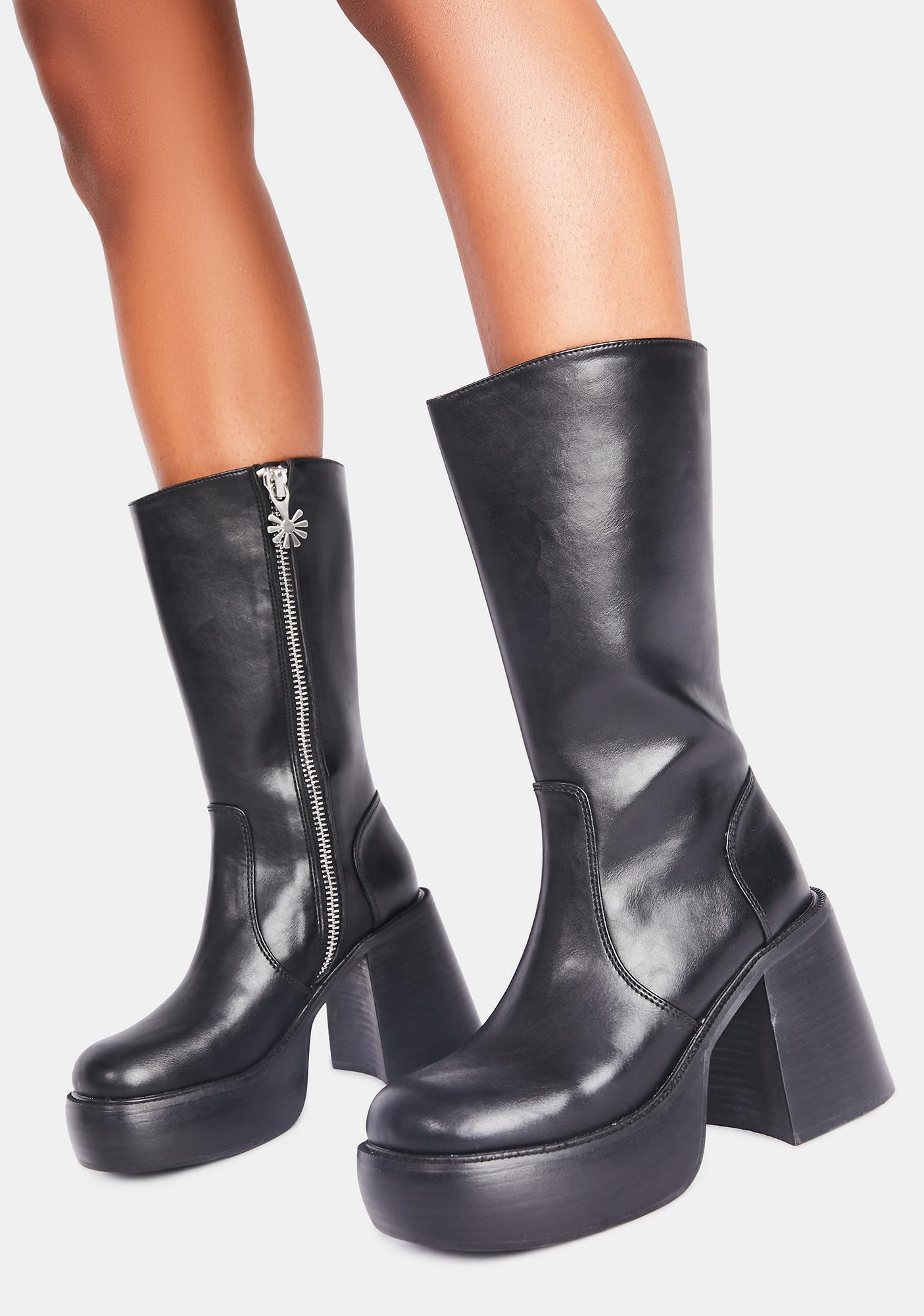 dELiA*s by Dolls Kill New Moon Mischief Knee High Boots