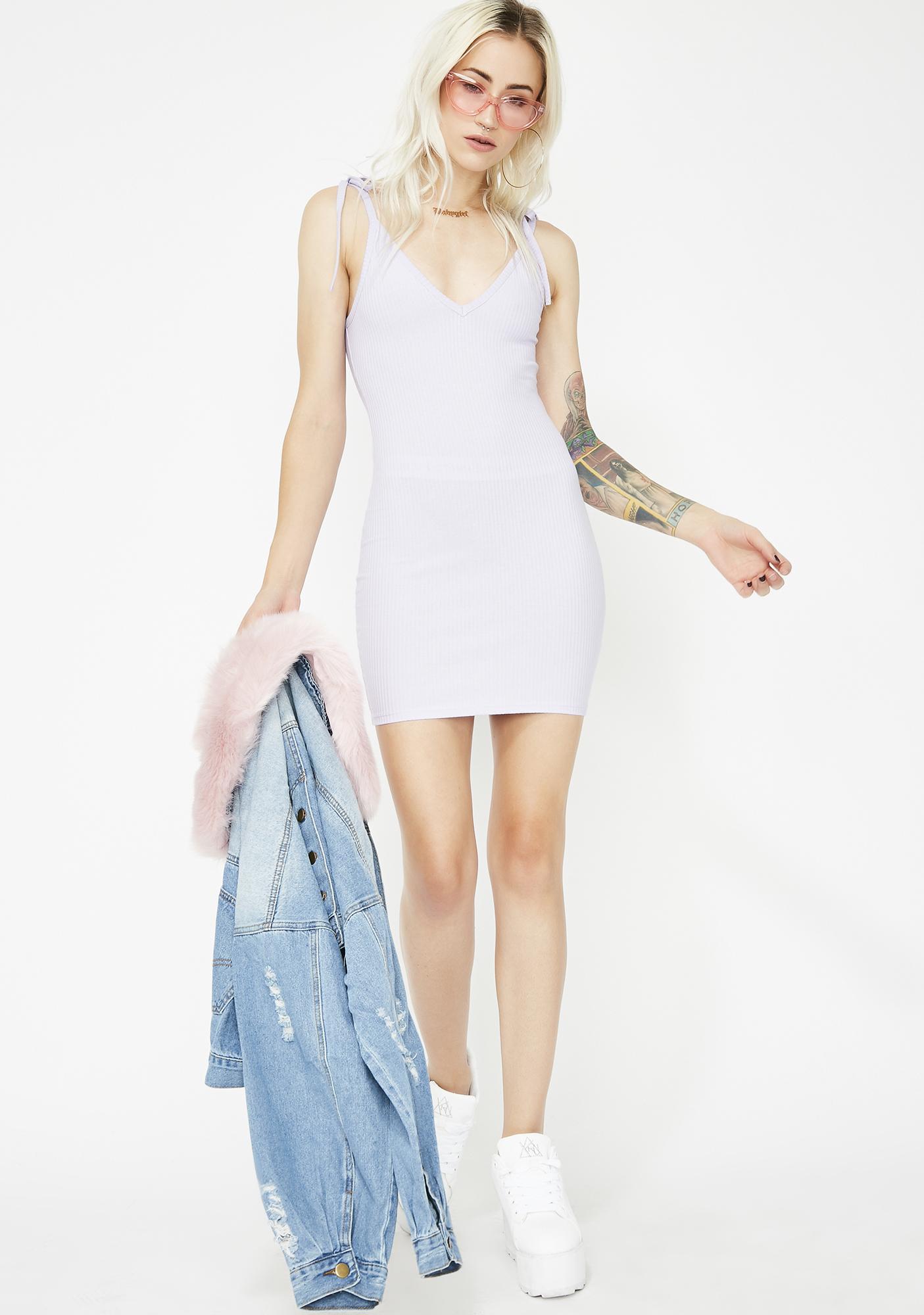 Lavender Don't Call Me Bodycon Dress