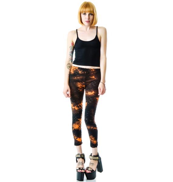 What A Snake Tie Dye Leggings