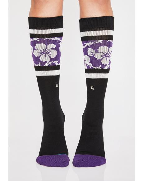 Barbed Aloha Socks