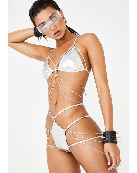 Chrome Digital Ecstasy Harness Panties