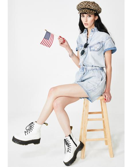 Mariners Complex Denim Romper