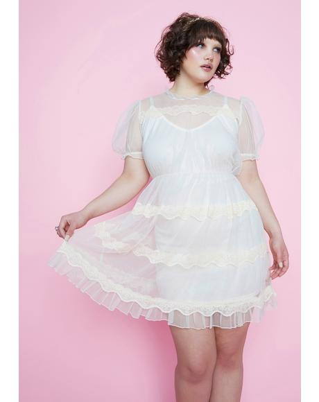 My Dream Meadow Sheer Babydoll Dress