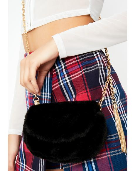 Noir Fuzzy Feelz Crossbody Bag