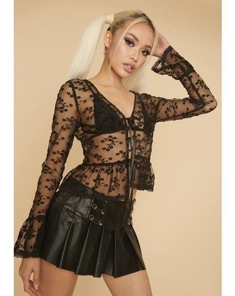Sweet Talking Baddie Lace Top