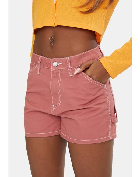Terracotta High Rise Carpenter Shorts