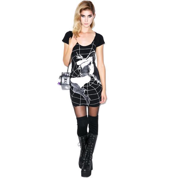 Kreepsville 666 Elvira Cobweb Tunic Dress
