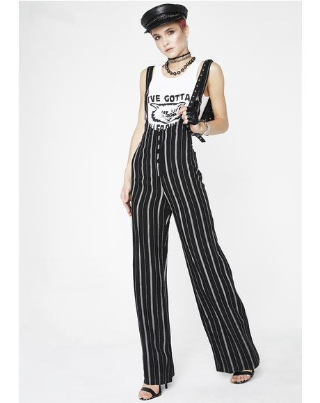 Killer Instincts Striped Jumpsuit