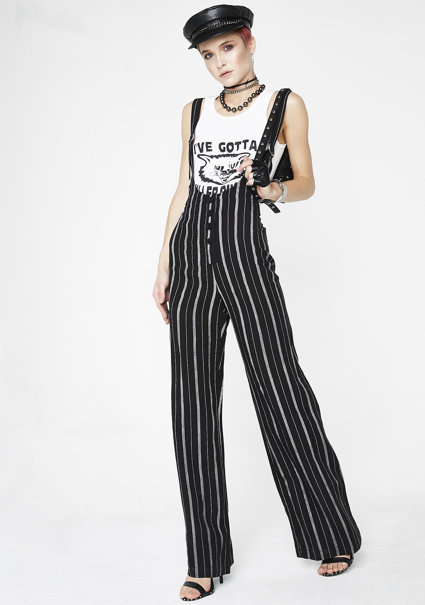 Killer Instincts Striped Jumpsuit by Dress Forum
