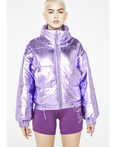 Mirna Metallic Puffer