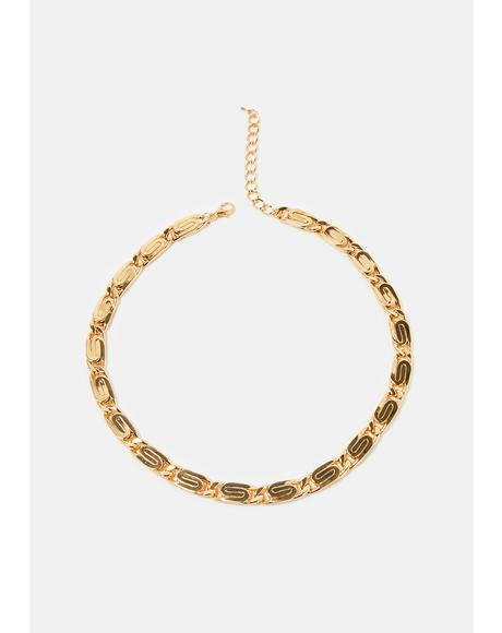 Selective Swirl Chain Necklace