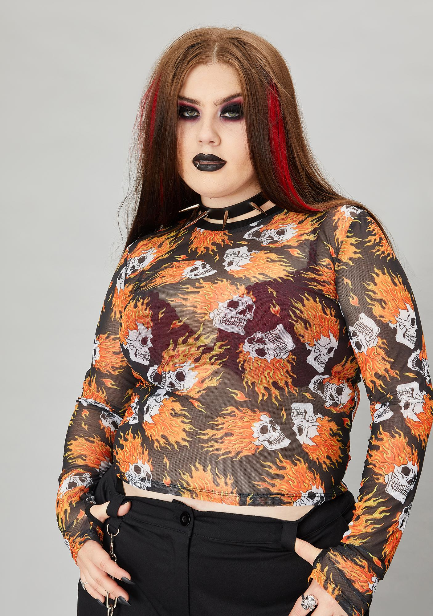 Widow To Hell And Back Mesh Top