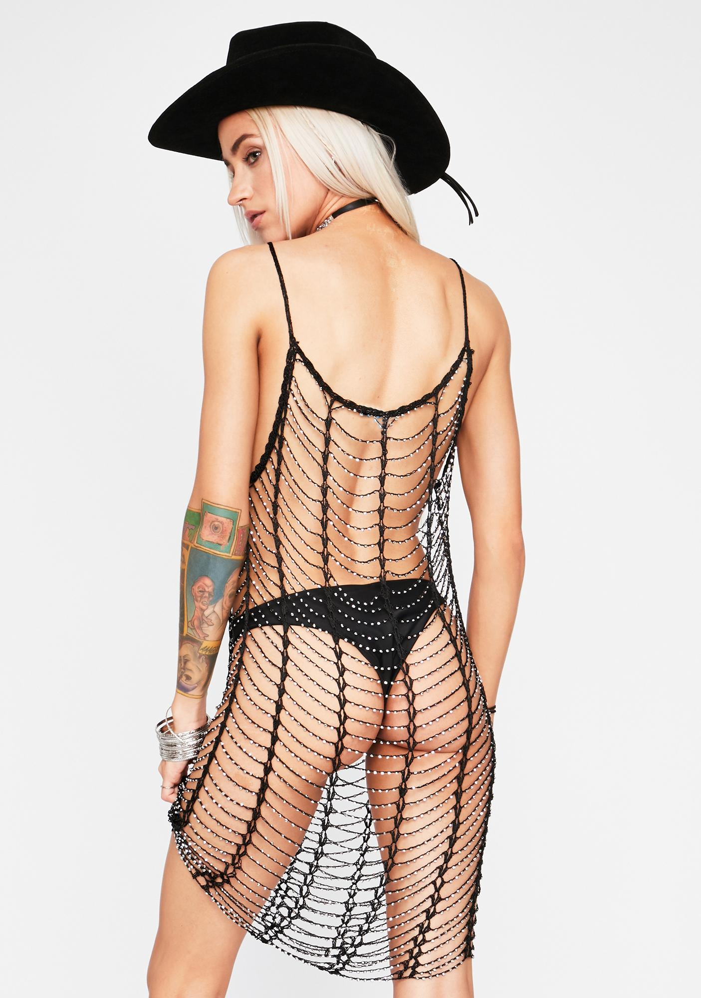Sahara Siren Crochet Net Dress