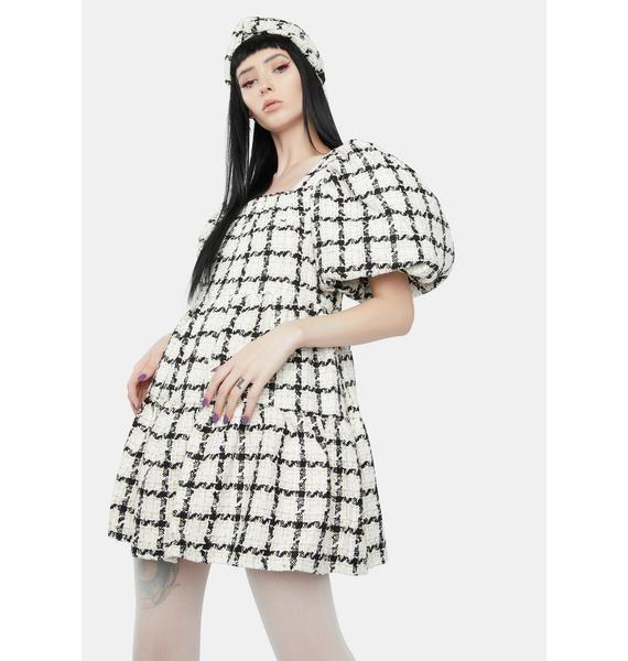 Sister Jane Supper Club Mini Tweed Dress