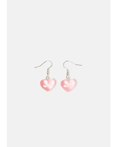 Blush Admit My Feelings Heart Earrings