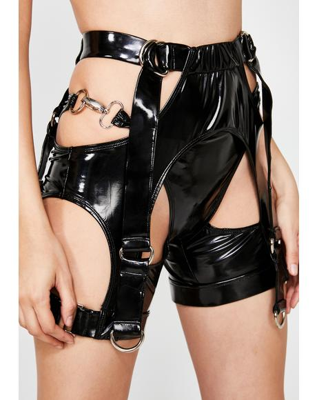 Low Key PVC Shorts