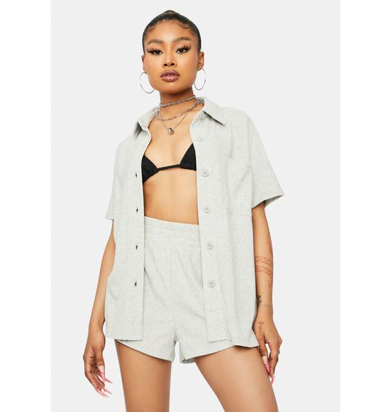 Never Rest Button Up Top And Shorts Set