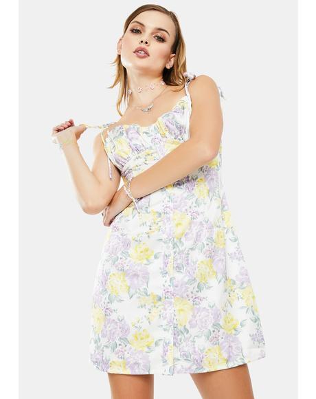 Multi Chintz Sateen Mini Dress