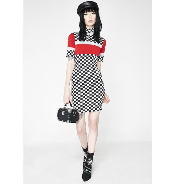 Speed Demon Checkered Dress