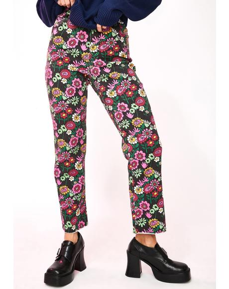 Mixed Bunch Flower Jeans