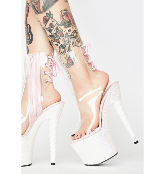 Pleaser Candy Dancer Unicorn Platform Heels