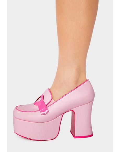 Pink Deelite Platform Loafers