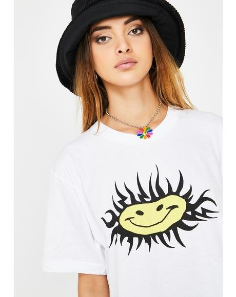 Sun Smiley Graphic Tee