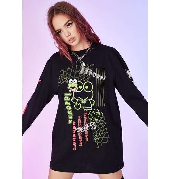 Dolls Kill x Hello Kitty Rough Ribbit Keroppi Tee
