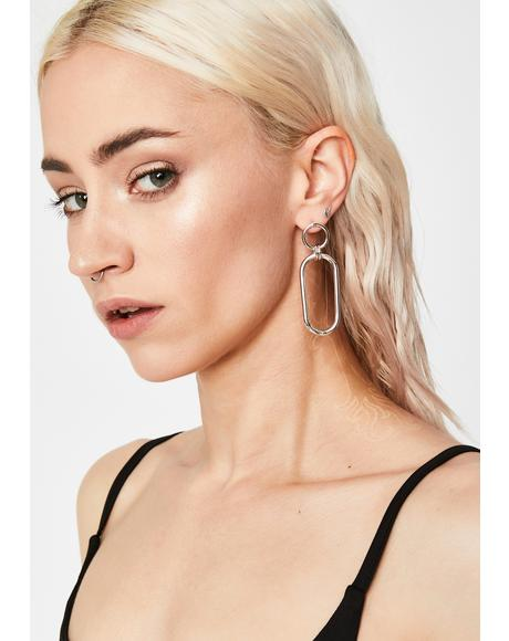 Loop Line Drop Earrings