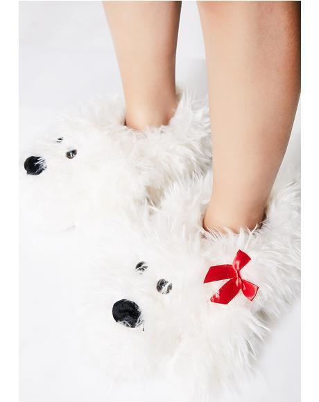 Fluff Pup Non-Slip Slippers