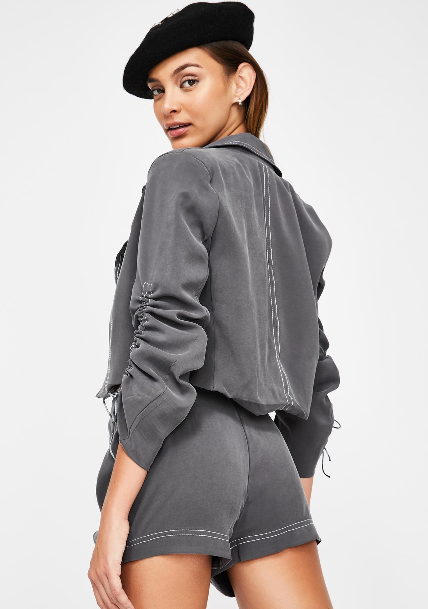 ZEMETA Stitched Ruffle Suit Set