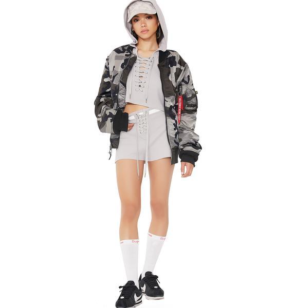 Cuddle Champ Lace-Up Shorts