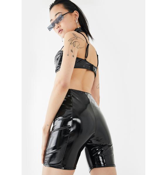 Forplay Caught A Slick Biker Shorts