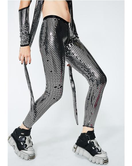 Disco Queen Mirrored Leggings
